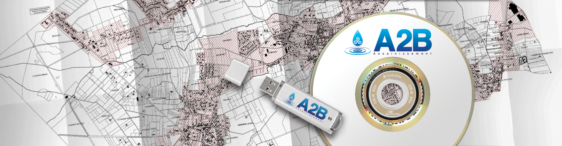 Rapports d'inspection vidéo sur clef usb dvd cd réalisé par la société a2b assainissement.
